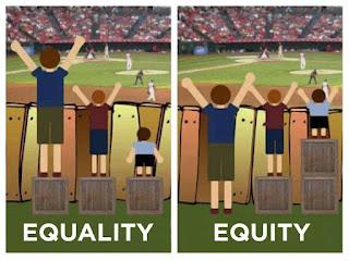 網路上曾經流傳過一幅說明平等和正義差別的漫畫。