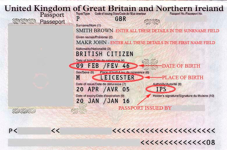 How to find place of issue on UK passport