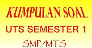 Download Soal PTS/UTS Matematika SMP/MTs Kelas 8 Semester 1 Kurikulum 2013 + Kunci Jawaban dan Pembahasan