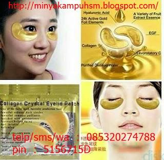 Cerahkan Lingkar Gelap Dibawah Mata Dengan Masker Crystal Collagen Gold Eye Mask