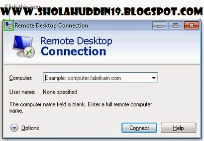 Contoh Laporan Remote Desktop Connection