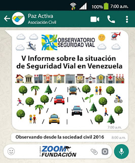V Informe Seguridad Vial Venezuela 2016