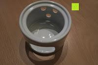 Sockel: Janazala Schokoladen Fondue-Set Für 4 Personen, Auch Als Butter Und Käse Fondue Geeignet