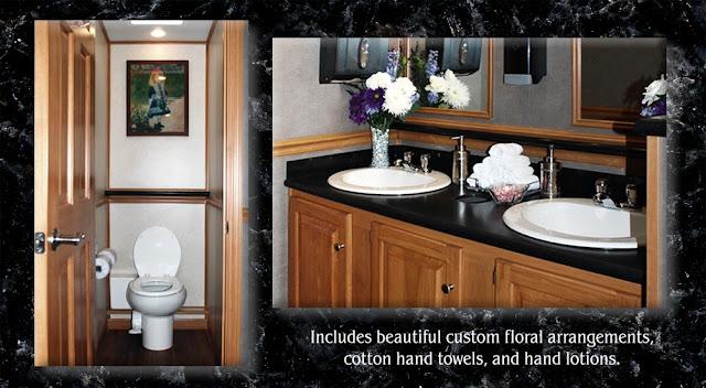 The Regency is a VIP luxury restroom trailer