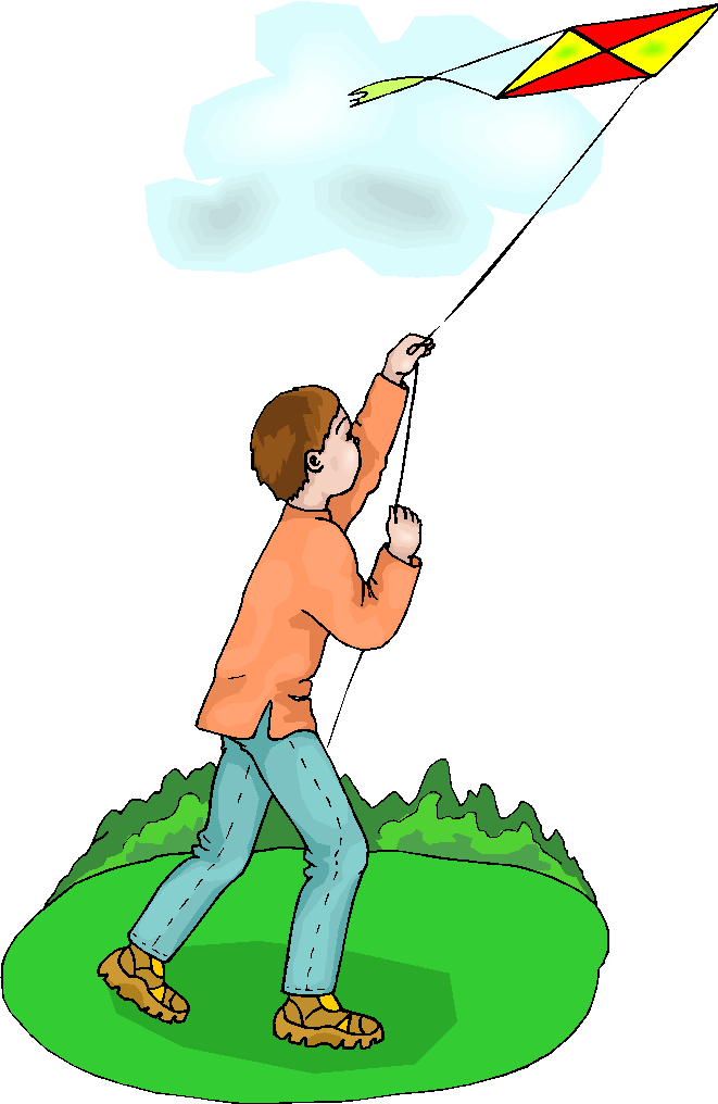 clipart kite flying - photo #24