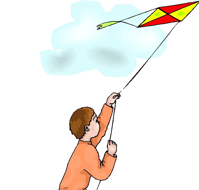Boy Fly a Kite Free Clipart | Free Microsoft Clipart (661 x 630 Pixel)