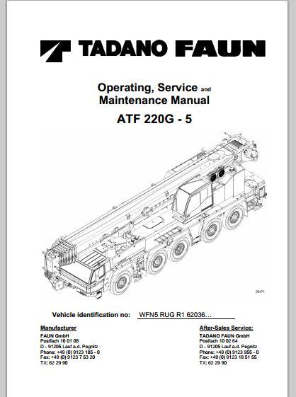 Free Automotive Manuals: TADANO FAUN ATF 220G-5 OPERATING