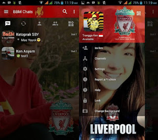 BBM Change Background with Liverpool