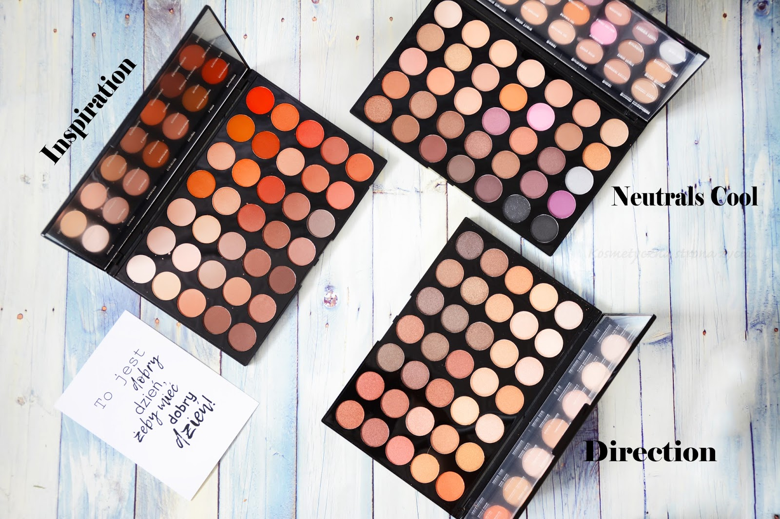 MAKEUP REVOLUTION PALETY INSPIRATION, NEUTRALS COOL ORAZ DIRECTION