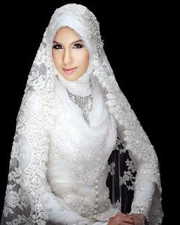 Contoh Baju Pengantin Muslim Modern