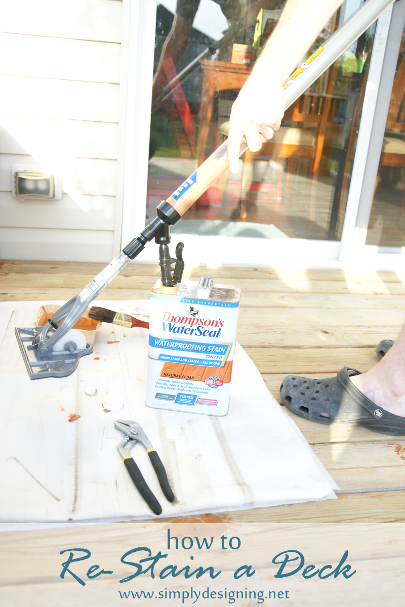 How to Re-Stain a Deck | come check out this full tutorial on how to strip and stain a deck | #deck #diy #homeimprovement