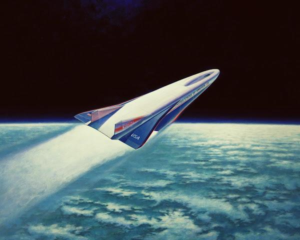 太空飛機 X-30 想像圖,數位時代翻攝自 NASA