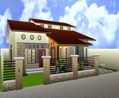desain unik atap rumah minimalis sederhana - rumah minimalis