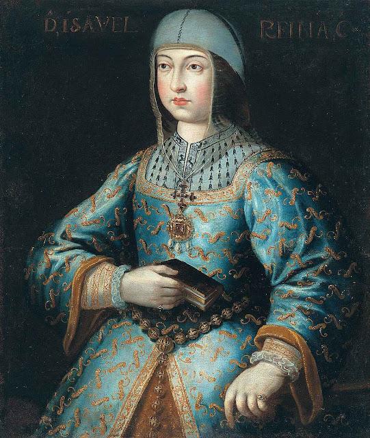 A rainha de Castela, Isabel a Católica, anônimo atribuído a Antonio del Rincón (1466-1500), Colección Generalife