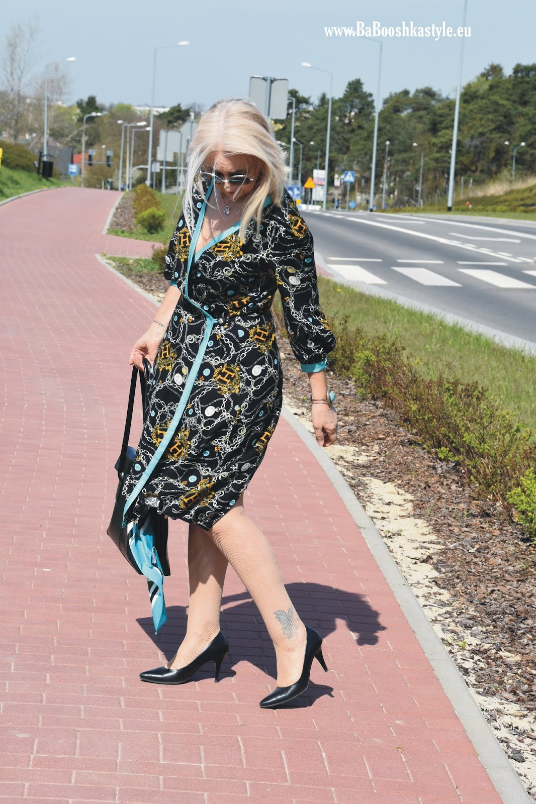 Babooshkastyle, autorska sukienka, Orsay, Ryłko, Skórzana.pl, over50style, over50fashion