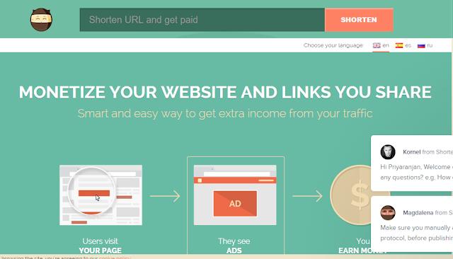 make money online by shorting URLs