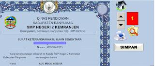 Aplikasi SKHU SMP Excel Tahun Pelajaran 2015/2016