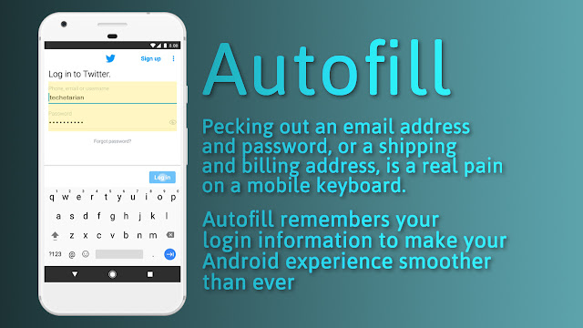 Pecking out an email address and password, or a shipping and billing address, is a real pain on a mobile keyboard.