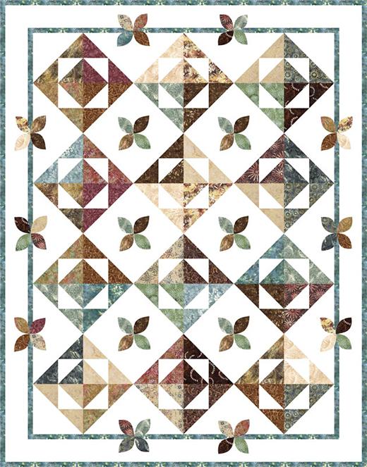 Leaves 'n Pebbles Quilt Free Pattern