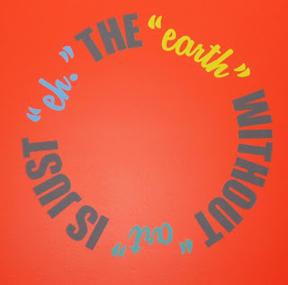 "Wall Graphic: The ""Earth"" without ""Art"" is just ""Eh"""