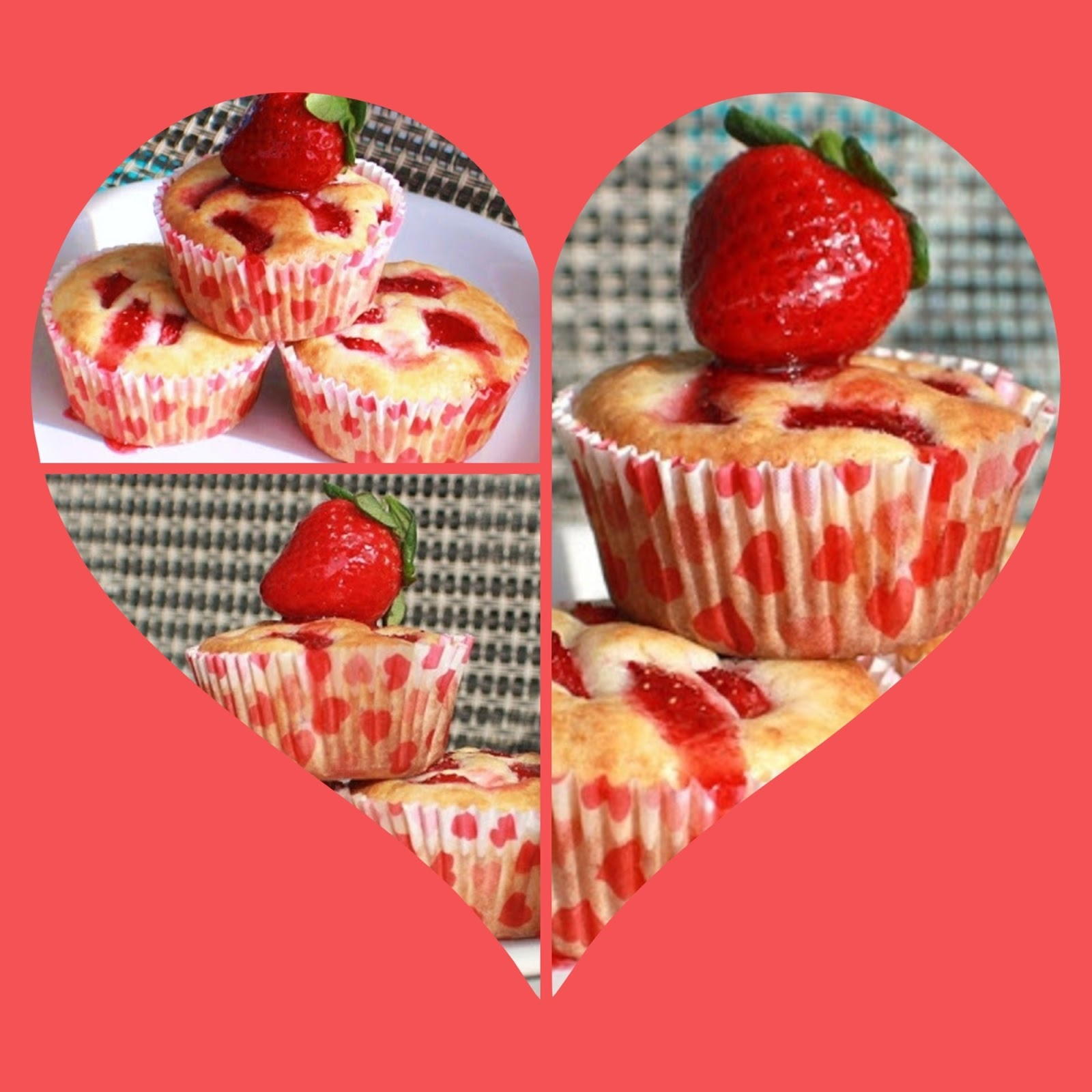 Valentine's Strawberry Cream Cheese Muffins