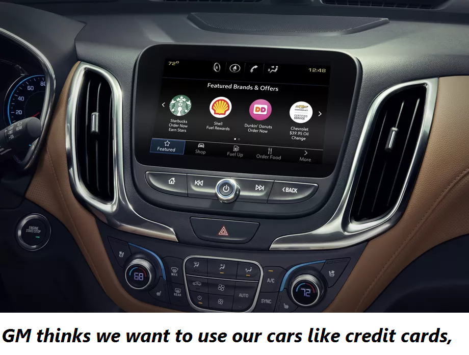 GM thinks we want to use our cars like credit cards,