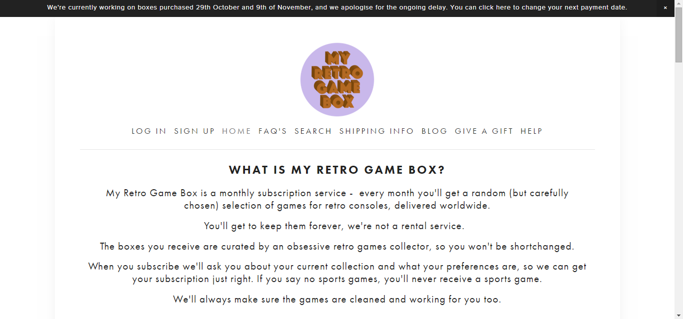The Pop Culture Cynic: My Retro Game Box: Worth The Wait?