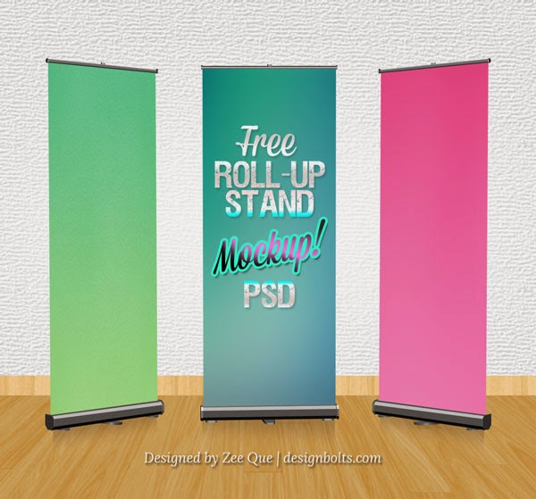 Roll-up Banner Stand PSD Mockup