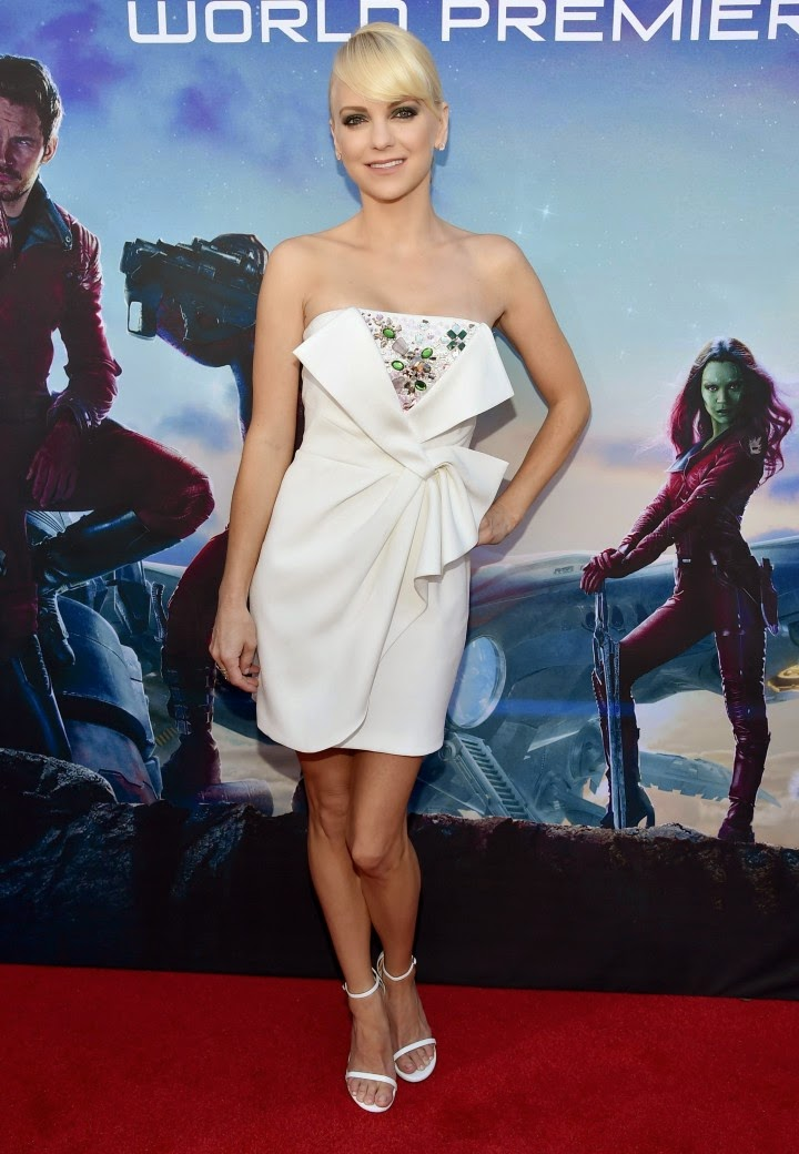 Anna Faris in a strapless Paule Ka dress at the 'Guardians of the Galaxy' LA premiere