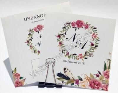 undangan motif bunga