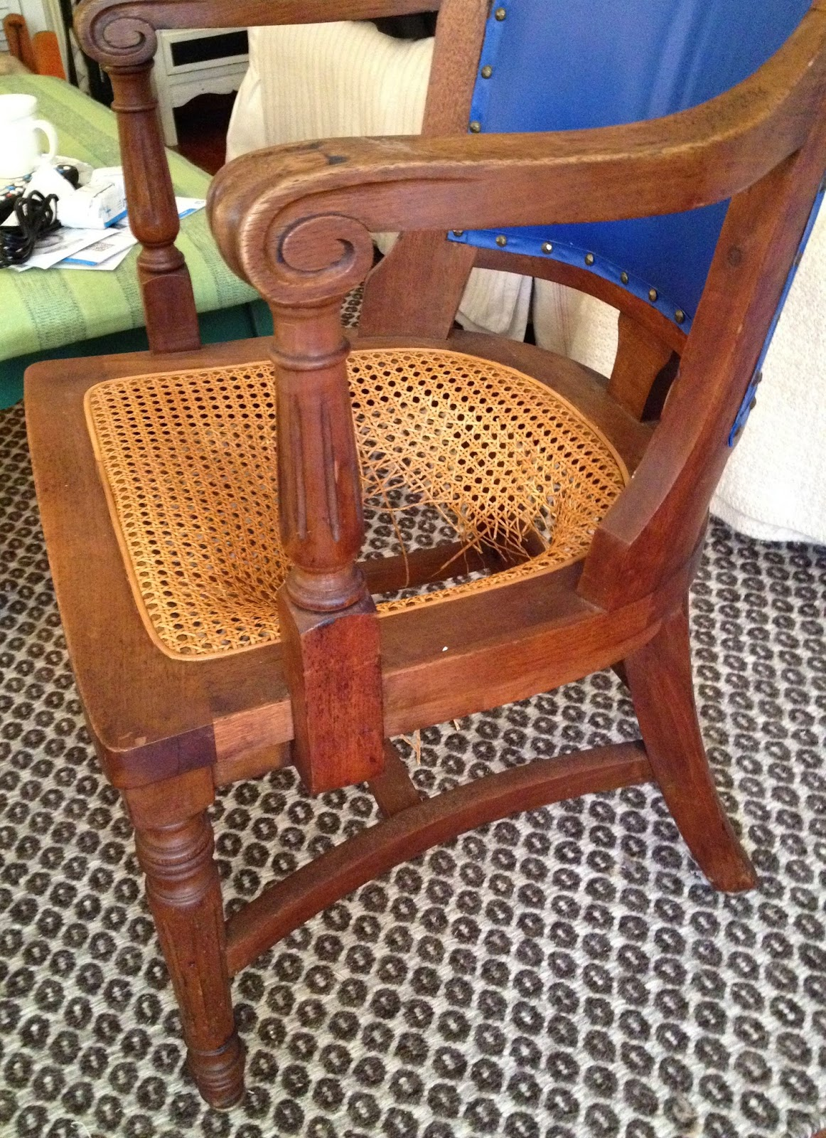repairing cane seat chairs grey weave garden sheshe the home magician how to fix a chair with