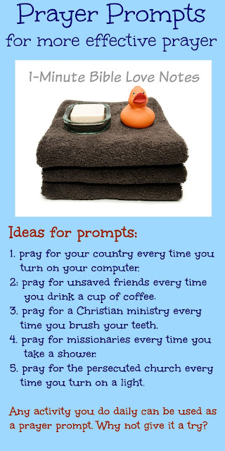 prayer prompts, practical reminders to pray