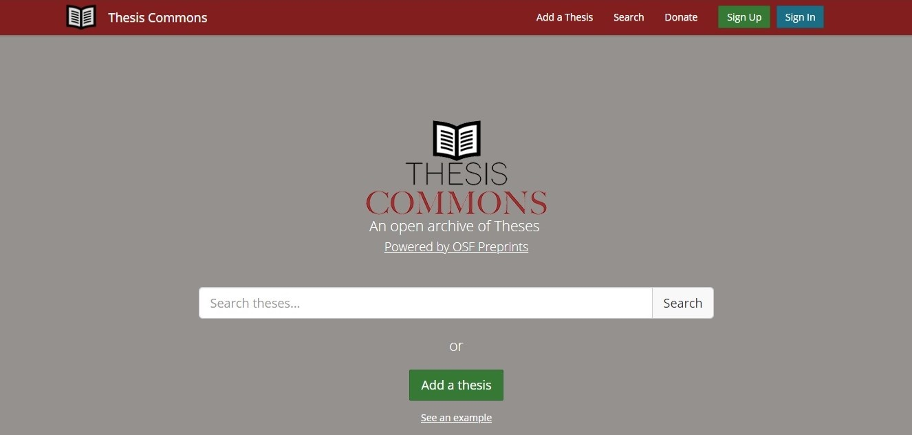 Thesis Commons