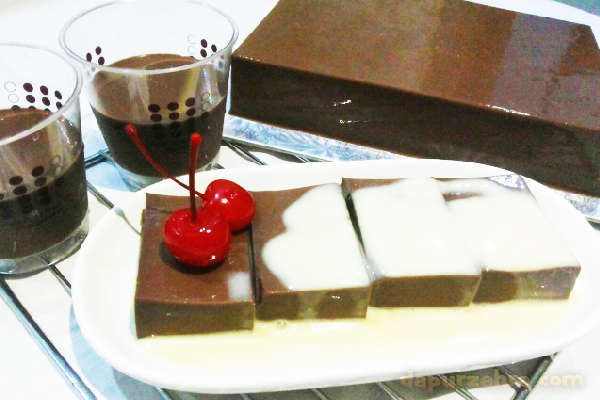 resep puding coklat vla ncc