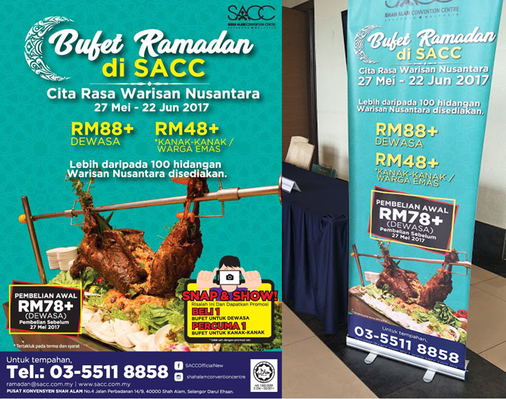 Harga bufet ramadan di Shah Alam Convention Center