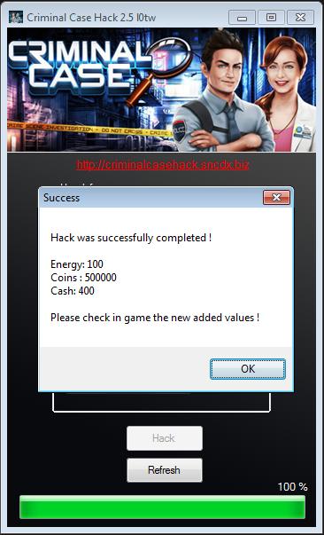Criminal Case Hack Tool (get maximum cash, coins and energy)