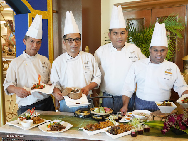 Chefs showcasing some of the dishes