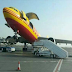 DHL plane's nose up while parked