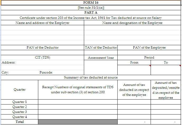 New Form No 16 in Excel Formate with Annexure \