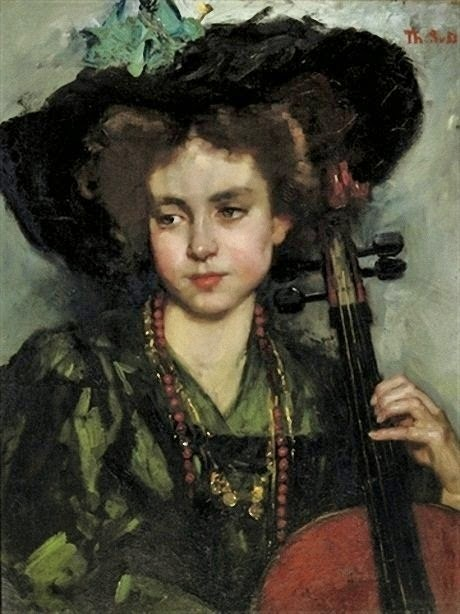 The Cellist, Therese Schwartze