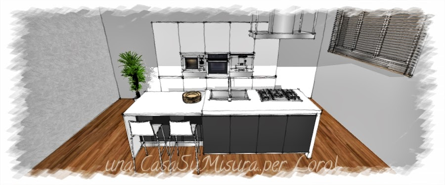 Una casasumisura per loro come progettare la cucina - Cucina con isola misure ...