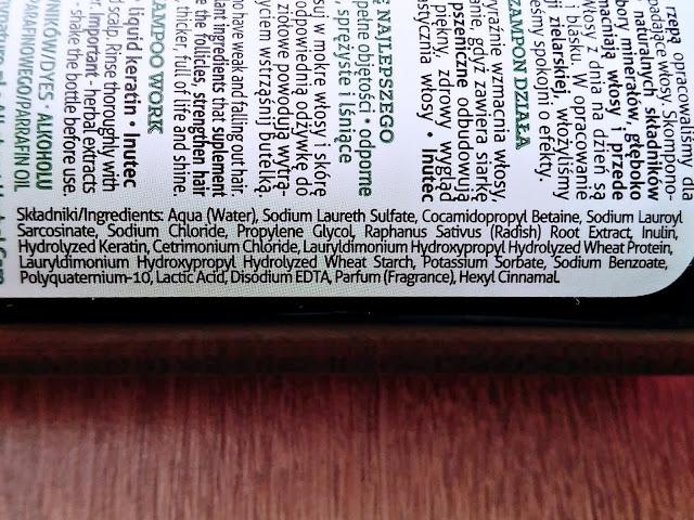 Farmona, Herba Care - Szampon Czarna Rzepa do włosów wypadających, skład