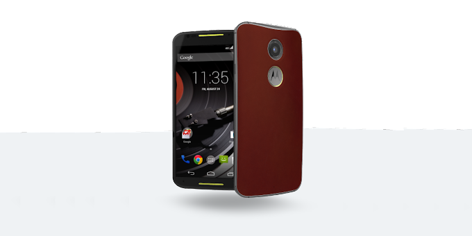 Motorola Moto X (second-gen) available in red leather