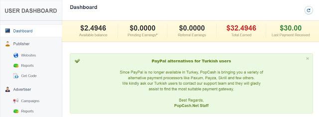 Review POPCASH Bukti Pembayaran Iklan Yang Tiinggi