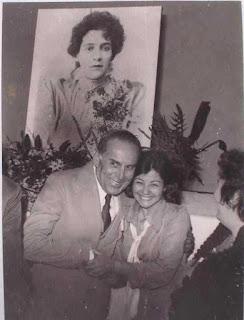 João Mendes, ao lado da profª Dalva, da Faculdade de Registro, numa Festa da Cultura.