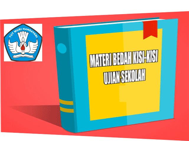 Materi Bedah Kisi-Kisi Ujian Sekolah (US) Lengkap Dengan Indikatornya