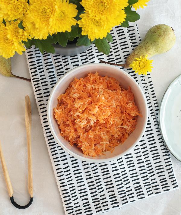 Karottensalat mit Birne