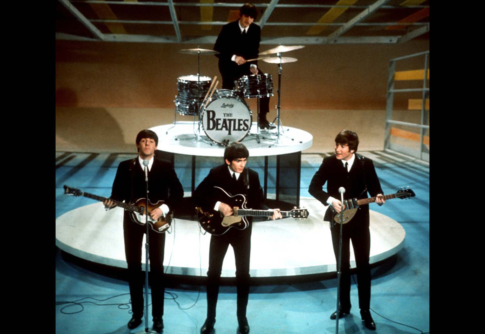 The Beatles perform on the Ed Sullivan Show in New York on February 9, 1964. An estimated 73 million viewers -- more than a third of the U.S. -- saw the performance, a record audience at the time.