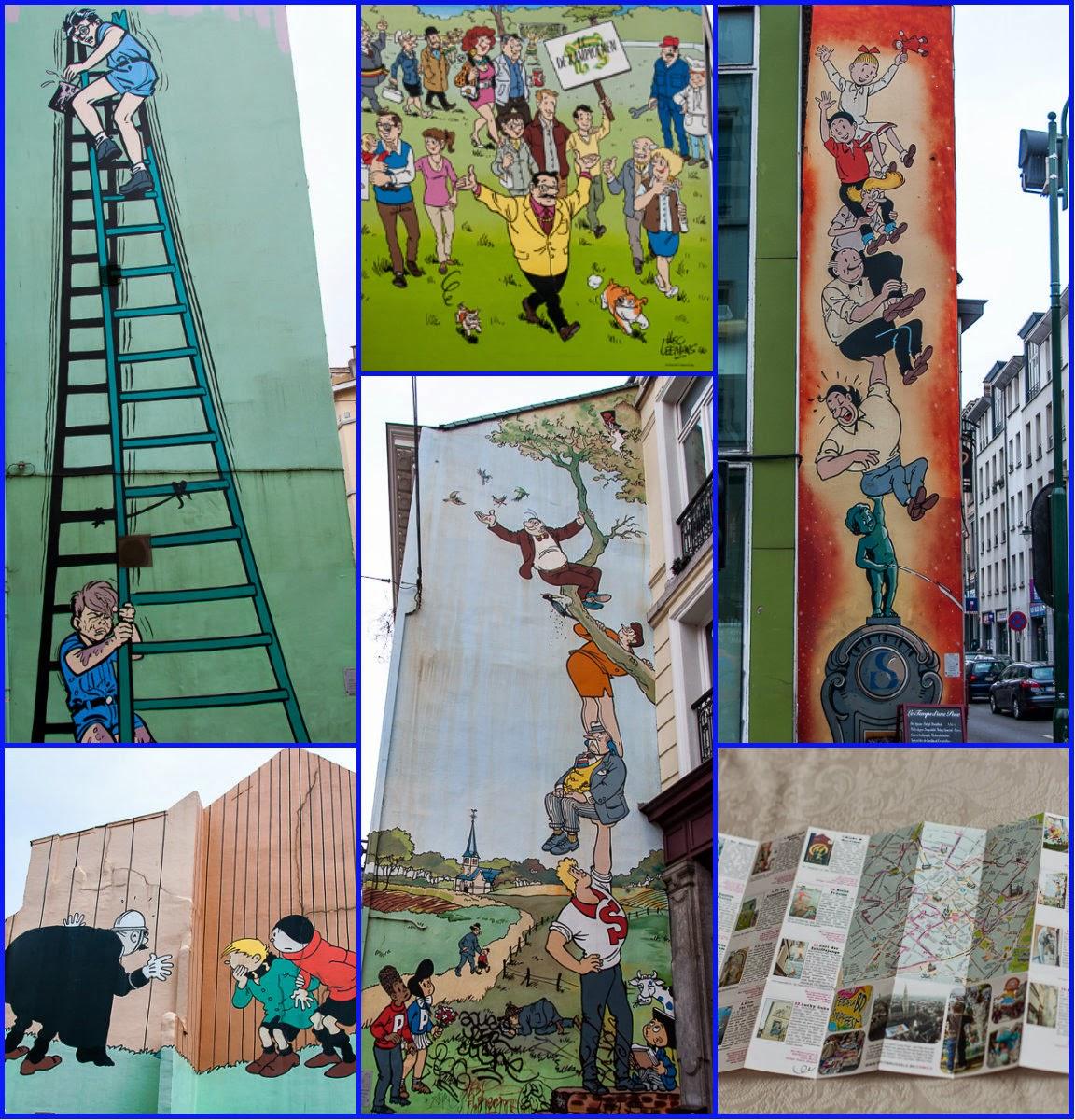 Otros murales de la ruta del comic de Bruselas