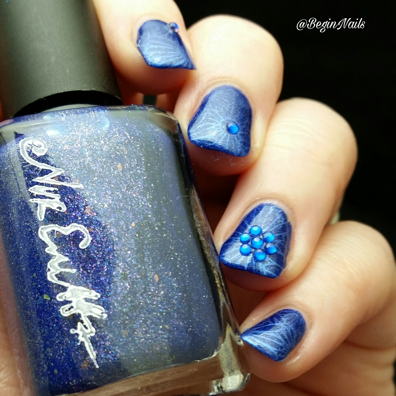Lets Begin Nails 26 Great Nail Art Ideas Challenge Blue Floral